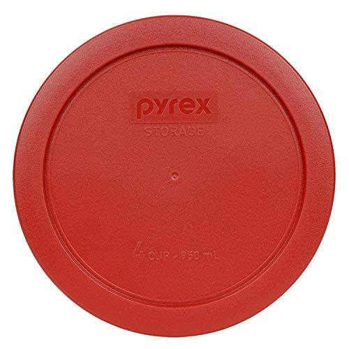 Pyrex 4-Cup rund Aufbewahrung cover-pc für Glas Schalen rot (poppy red)