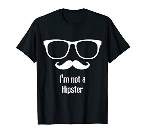 Shades Of Frauen Grey Kostüm 50 - I'm not Hipster Shades Mustache Kostüm Cool Halloween Gift T-Shirt