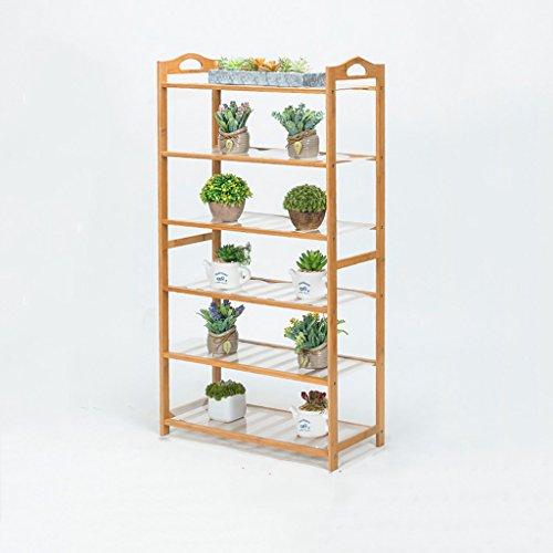 MLHJ NNIU- Multifonctionnel Balcon Fleur Racks Solide Bois Salon Pots De Fleurs Simple Multi-étages Étagère De Fleur (Taille : 60 * 26 * 108cm)