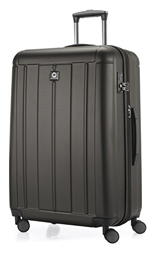 Hauptstadtkoffer - kotti - valigia da viaggio rigida e leggera, grande 76 cm, trolley abs, tsa, 120 litri, grafite