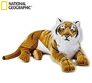 Lelly 100 cm National Geographic Big Cats Tigre Gigante de Peluche (Brown)