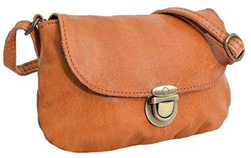 Umhängetasche Handtasche Ledertasche Vintage Braun Leder -