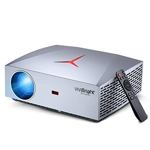 VIVIBRIGHT f40 Full HD-Projektor, Native Auflösung 1920 x 1080 DPI, E-Sports-Klasse für Spiel und Heim, 4200 Weißlicht-LED-Helligkeit, HiFi-Klasse-Lautsprecher mit SPDIF