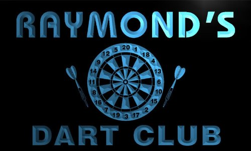 ts036-b-raymonds-dart-club-bar-beer-pub-game-room-neon-sign-barlicht-neonlicht-lichtwerbung