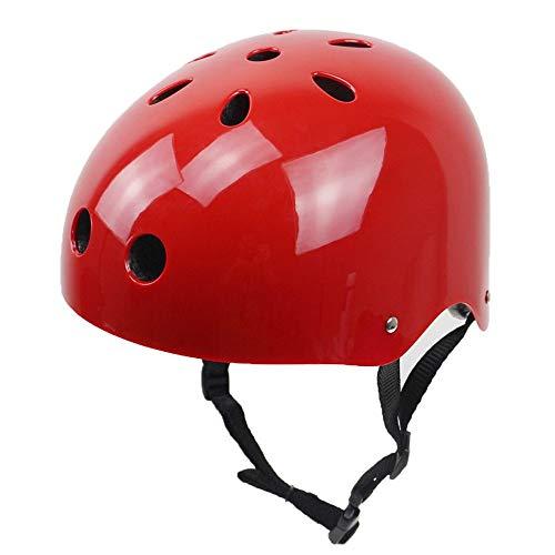 Bambino Casco Bici Ideale per Bambini e Adolescenti Caschi Perfetto per Downhill Ciclismo MTB Scooter Helmet Equilibrio per Auto,Certificazione CE UE S,M,L,Rosso