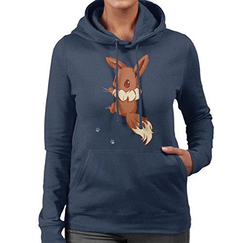 Cloud City 7 Cute Eevee Women\'s Hooded Sweatshirt