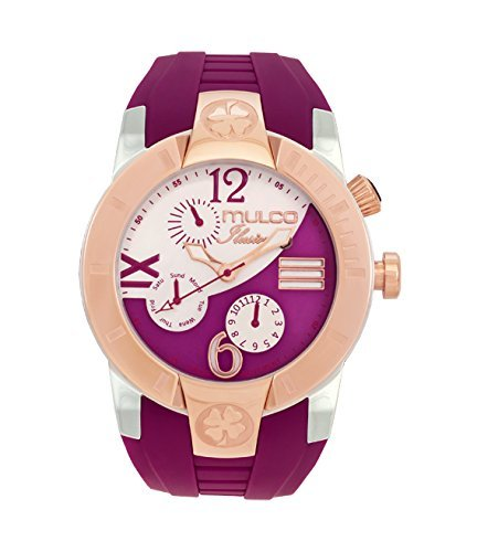 Mulco MW5-1877-523 ILUSION CRESCENT Analog Display Swiss Quartz Purple Watch