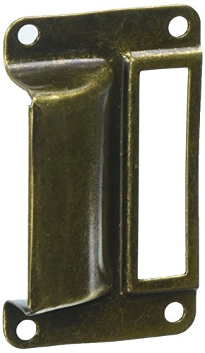 uxcell a16062000ux0466Label Halterung Pull Bibliothek Post Office Datei Schublade zieht Label Halter Bronze Tone 100 (Schublade Zieht Post)