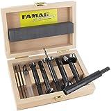 FAMAG Bormax 2.0 prima Staketenbohrersatz 6-teilig WS D=15,20,25,30,35mm im Holzkasten mit Bohrverlängerung 1639.001