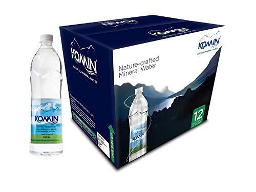 Komin Natural Mineral Water-1000ml (Pack of 12 Bottles) | Naturally Alkaline Water