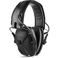 Awesafe GF01 Casco Tiro Auriculares de Caza Plegables Defensores del Oído con Tecnología de Cancelación de Ruido Protectores Auditivos Especialmente Diseñados para Cazadores y Tiradores -Negro