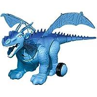 Robot De Juguete De Dinosaurio De Control Remoto RC Simulación De Luz De Dinosaurio Eléctrico Proyección De Luz Realista De Dinosaurio Modelo De Juguete,Blue