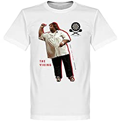 Andy Fordham camiseta de dardos, color blanco, hombre, blanco, XS