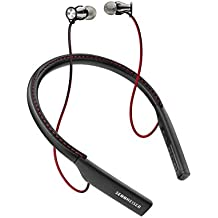Sennheiser Momentum - Auriculares In-Ear inalámbricos (Bluetooth 4.1, NFC, USB, Qualcomm apt-X) color negro y rojo
