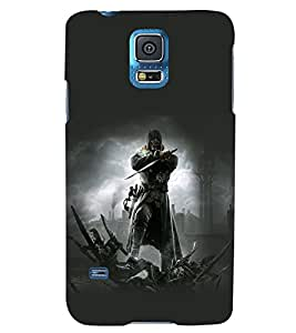 PRINTSWAG WARRIOR Designer Back Cover Case for SAMSUNG GALAXY S5