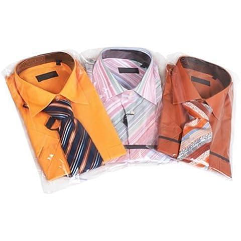 Hangerworld - Bolsas para Camisas (40.5 cm) Polietileno Transparente. 40 Unidades