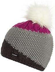 Eisbär Eden Lux Crystal–Gorro, unisex, Eden Lux Crystal, grafit/Graumele/deep pink, S, M, L o XL