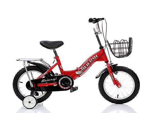 Bicicletas Infantiles para NiñO Chica, Bicicleta para 4-7 AñOs con Ruedas De Entrenamiento Frenos...