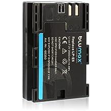 Blumax Premium Kamera Ersatz Akku für Canon LP-E6 mit 2000mAh 7.2V 14.4Wh Kompatibel mit Canon EOS 5d 7d 60d 60Da 6d 70d 7d Mark II 5D Mark II III Batterie