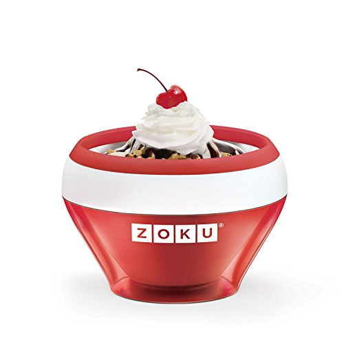 ZOKU Ice Cream Maker Red - Ice Cream - Sorbet - Frozen Yoghurt in 10 Minutes