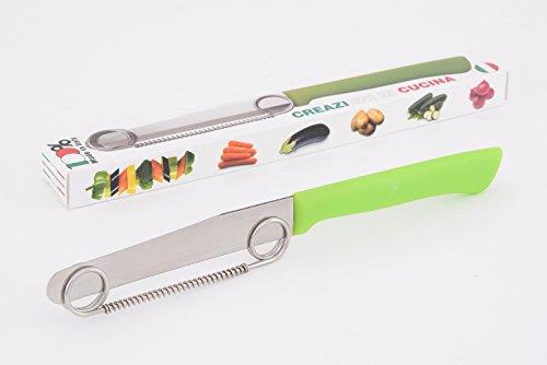 Set di coltello e spiralizzatore, per sbucciare e affettare patate, verdura e frutta in modo creativo, messer
