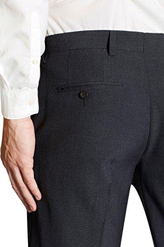 next Costume texturé: Pantalon Coupe Slim Homme Bleu 1