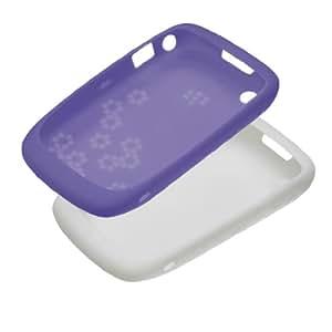 BlackBerry Coque pour BlackBerry Curve 8520/9300 - Blanc et lavande (Lot de 2)