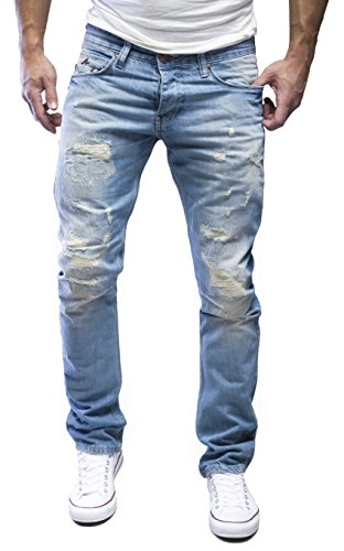 AMICA-by-MERISH-Herren-Jeans-Straight-Fit-Destroyed-Blue-Jeans-J1154-Hellblau-3332