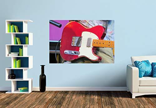 Premium Foto-Tapete E-Gitarre - Vintage Telecaster (versch. Größen) (Size S | 186 x 124 cm) Design-Tapete, Wand-Tapete, Wand-Dekoration, Photo-Tapete, Markenqualität von ERFURT
