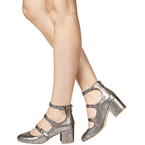 next Para Mujeres Zapatos De La Corte De Salón Con Tiras