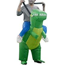 LaoZan Traje inflable Adulto Traje de montar dinosaurio traje de Halloween Adulto