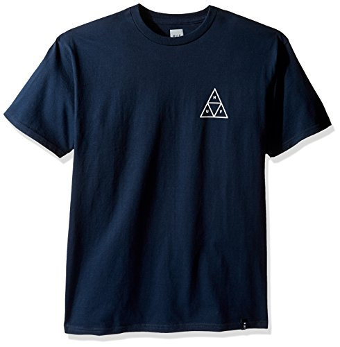 HUF T-Shirts Triple Triangle T-Shirt - Black Blau