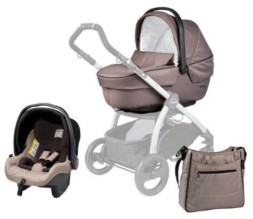 Pérego Modular XL Sportivo–Tragetasche, Auto-Kindersitz, Gruppe 0und Handtasche Beige (Geo)