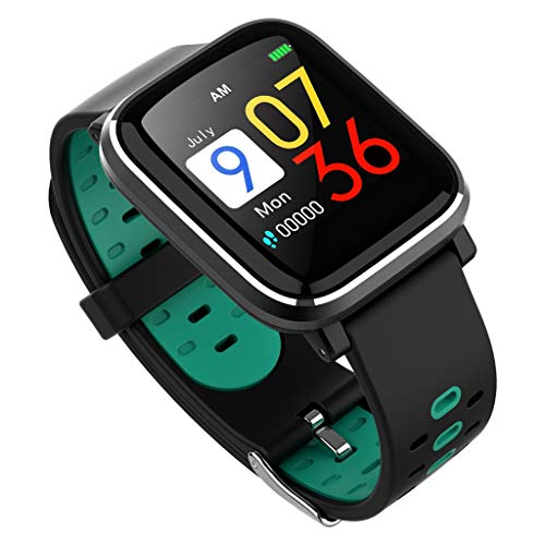 VRTUR Armbanduhr Männer Sport Wasserdicht IP67 Sportmodus Herzfrequenz Blutdruck Armband Kalorien Sleep Detection Bluetooth Smartwatch LCD Bildschirm Blau