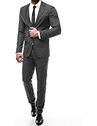 OZONEE Herren Sakko Business Anzug Herrenanzug Anzugjacke Anzughose Einreicher Jacket Hose Klassische Y-TWO 5131