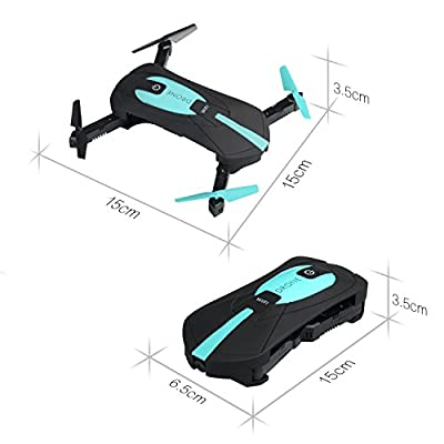 Yacool ® JY018 RC Drone, Mini Foldable Wifi FPV Quadcopter Height Hold 6 Axis Gyro App Control Helicopter With 2.0 MP 720P HD Camera (JY018)