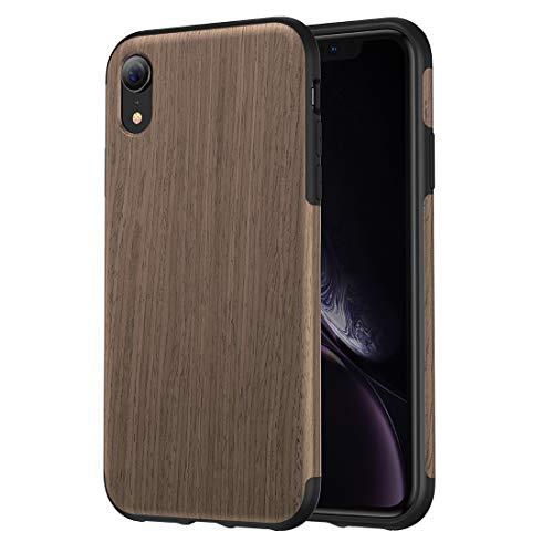 TPU-Materialabdeckung Schwarze Rose Holz Textur TPU Case Design für iPhone XR (Hölzerner Telefon-kasten Iphone 4)