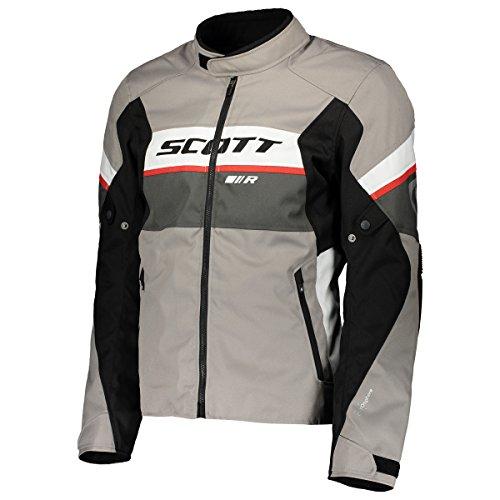 Scott SportR DP Blouson Motorrad Jacke grau/schwarz/weiß 2018: Größe: L (50/52) (Motorrad-jacke Mesh-tech)