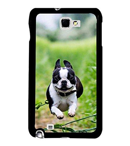 Fuson Designer Phone Back Case Cover Samsung Galaxy Note 2 :: Samsung Galaxy Note Ii N7100 ( Running Puppy That Smiles )