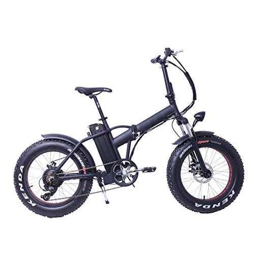 XWZG Folding Mountain Electric Bike, austauschbarer Lithium-Ionen-Akku, Scheibenbremsen, LCD-Display, 30 km/h, Driving Range 20-55 km, 6 Geschwindigkeiten 20 Zoll