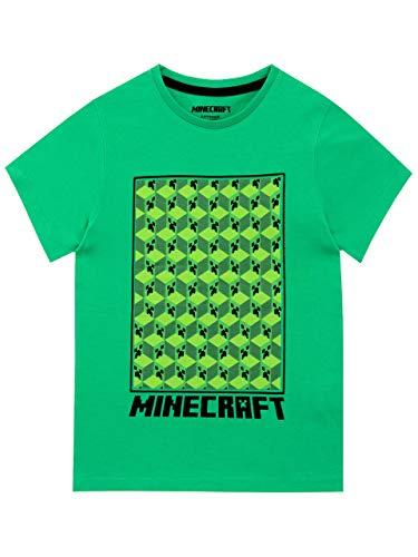 Minecraft Jungen Creeper T-Shirt Grün 128 (Minecraft Kinder T-shirts)