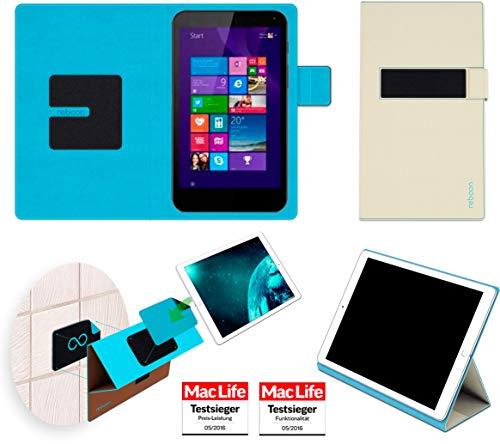 reboon Hülle für HP Stream 7 Tasche Cover Case Bumper | in Beige | Testsieger