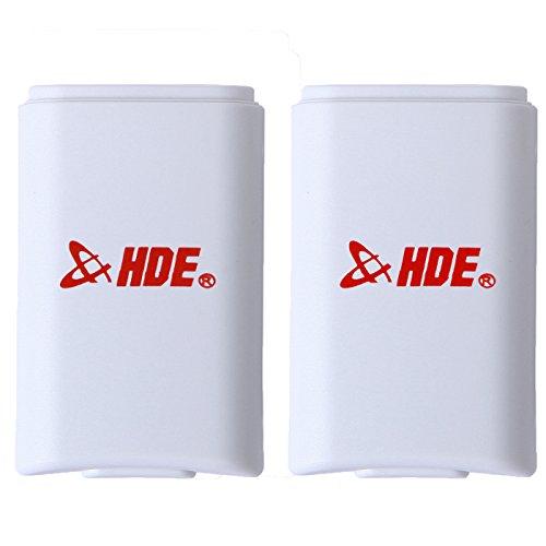 HDE Ersatz-Akkudeckel für Xbox 360 Controller AA Batterie Hülle für Xbox 360 Wireless Controller (2 Stück) (Xbox 360 Slim Bundle Weiß)