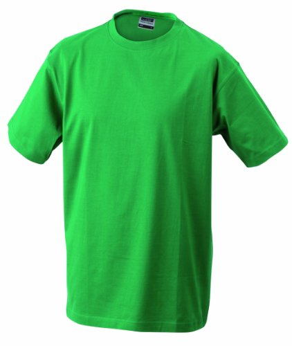 James & Nicholson Jungen T-Shirt Junior Basic Rundhals, Gr. Large (Herstellergröße: L (134/140)), Grün (irish-green) (T-shirt Irish)