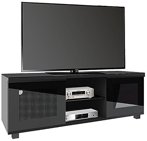 "VCM Premium TV Möbel ""Luxala"" Schwarzlack/Schwarzglas"