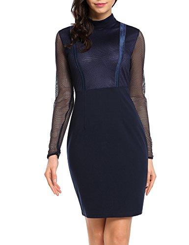 Zeagoo Damen Kurzarm Ballkleid Rockabilly Cocktailkleid Stretch Business Vintage 50er Jahre Kleid...