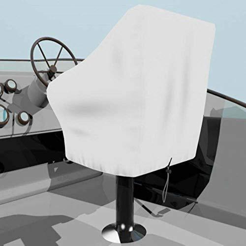 Rziioo Bootssitzbezug, wetterbeständiges wasserdichtes Oxford-Gewebe, passt über den Stuhl und die Armlehne - Weiß -