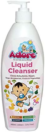 Adore Anti-Bacterial Liquid Cleanser for Baby Accessories, 500 Ml
