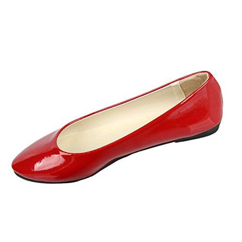 Minetom Mujer Elegante Pu Cuero Plano Zapatos Verano