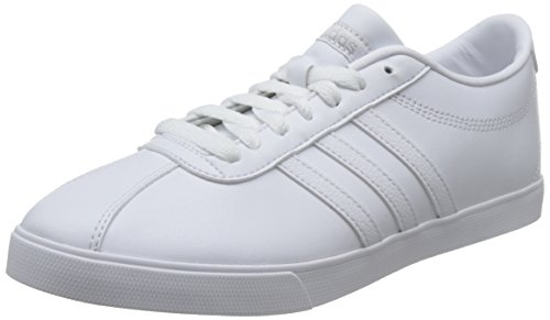 adidas Courtset W, Scarpe Sportive Donna Bianco (Footwear White/footwear White/matte Silver)